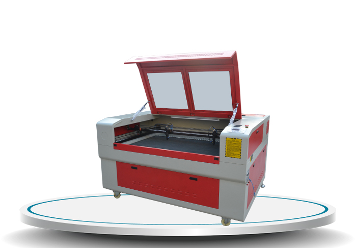 laser machine with double head